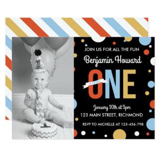 Convite do aniversário dos meninos primeiro -