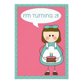convite do aniversário (menina que gira 2)