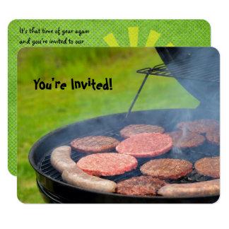 Convite do assado do quintal
