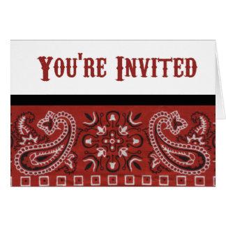 Convite do Bandana Cartão Comemorativo