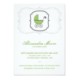 Convite do carrinho de bebê