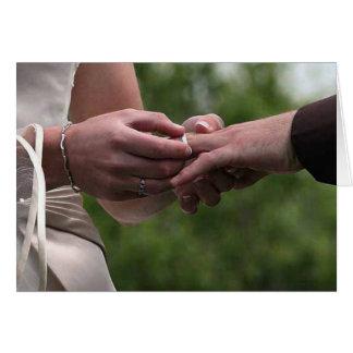 Convite do casamento cartões