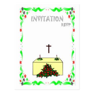 Convite do casamento - cerimónia da igreja cartão postal