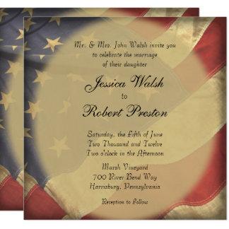 Convite do casamento da bandeira americana