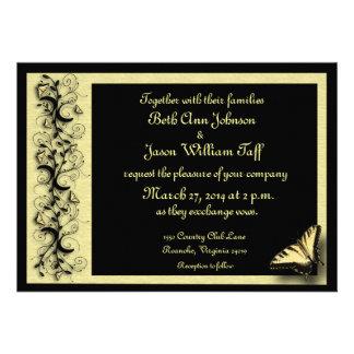 Convite do casamento da borboleta