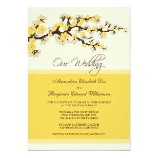 Convite do casamento da flor de cerejeira
