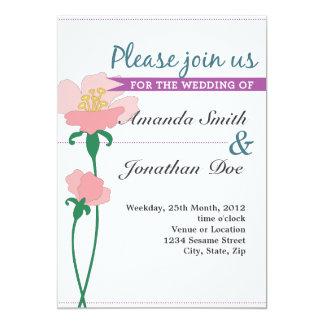 Convite do casamento da flor de Nouveau