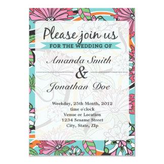 Convite do casamento da flor do verão