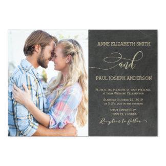 Convite do casamento da foto do quadro
