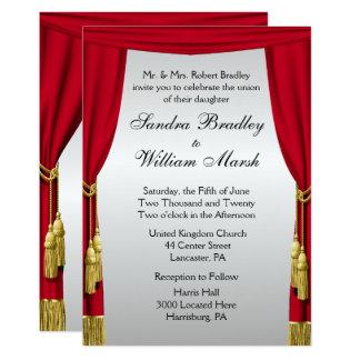 Convite do casamento da tela prateada