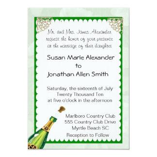 Convite do casamento de Champagne