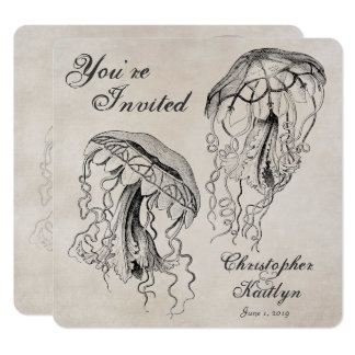 Convite do casamento de praia das medusa do
