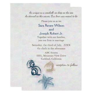 Convite do casamento de praia dos Seashells