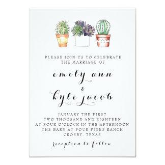 Convite do casamento do cacto