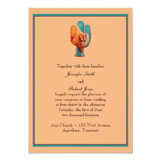 Convite do casamento do cacto e do búfalo do