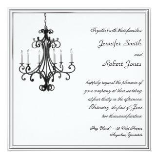 Convite do casamento do candelabro do encanto de