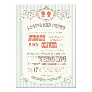 Convite do casamento do carnaval do vintage