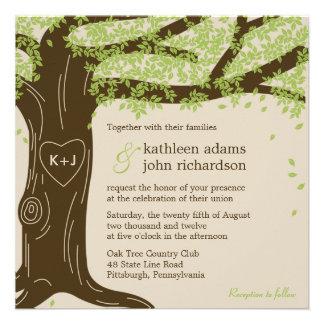 Convite do casamento do carvalho