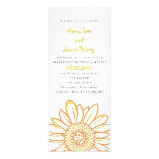 Convite do casamento do comprimento do chá do gira