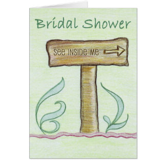 Convite do casamento do conselho da seta cartão comemorativo
