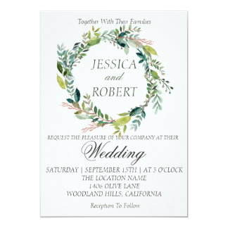 Convite do casamento do jardim da grinalda da