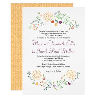 Convite do casamento do jardim do verão
