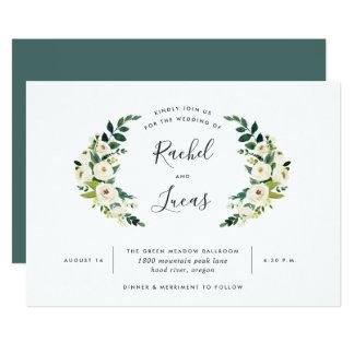 Cartão Convite do casamento do louro do alabastro