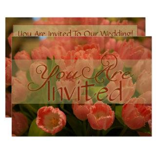 Convite do casamento do primavera das tulipas da