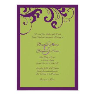 Convite do casamento do quadro dos redemoinhos do