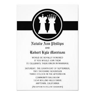 Convite do casamento do rei e da rainha da xadrez