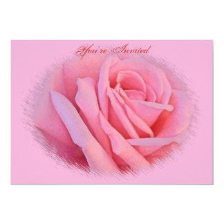 Convite do casamento do rosa do rosa