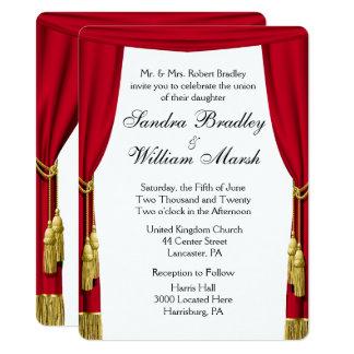 Convite do casamento do tema do filme