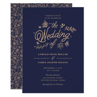 Convite do casamento do Wildflower