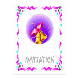 Convite do casamento - sinos de casamento cartão postal