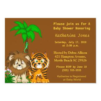 Convite do chá da selva de BabyAnimals