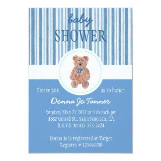 Convite do chá de fraldas do esboço do urso de convite 12.7 x 17.78cm