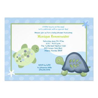 Convite do chá de fraldas do recife da tartaruga -