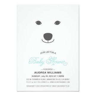 Convite do chá de fraldas do urso polar