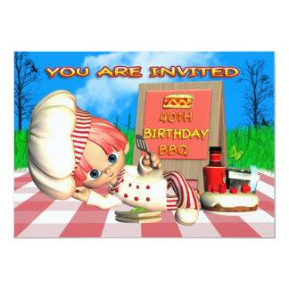 Convite do CHURRASCO do aniversário de 40 anos