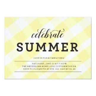 convite do churrasco do piquenique do verão