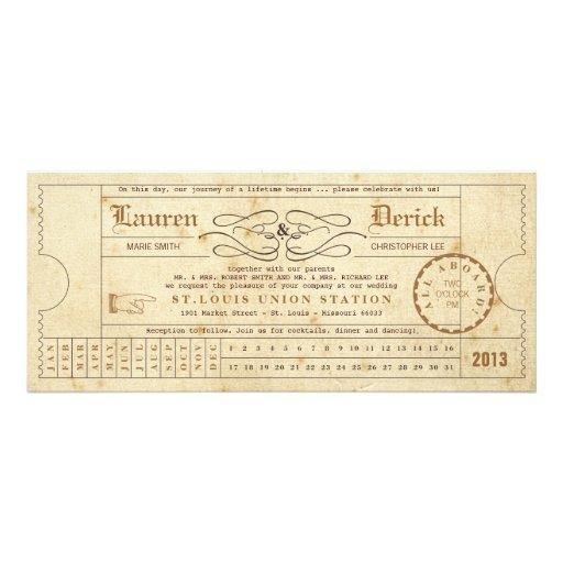Convite do comprimento do chá do cartão de perfura