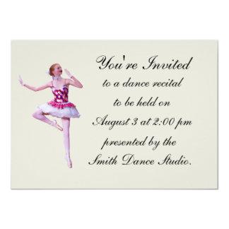 Convite do considerando da dança, bailarina,