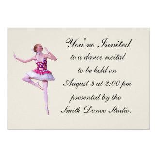Convite do considerando da dança, bailarina, custo