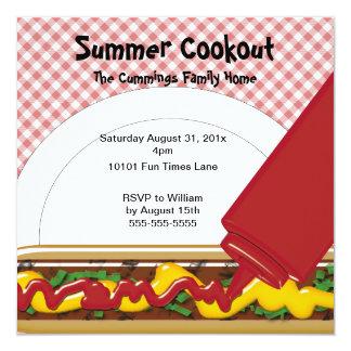 Convite do Cookout do verão