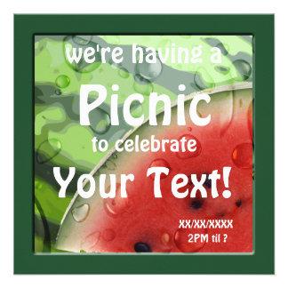 Convite do costume do piquenique do verão da melan