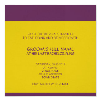 Convite do despedida de solteiro de Ganesh