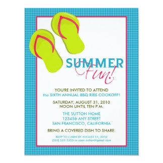 Convite do divertimento Picnic/BBQ do verão