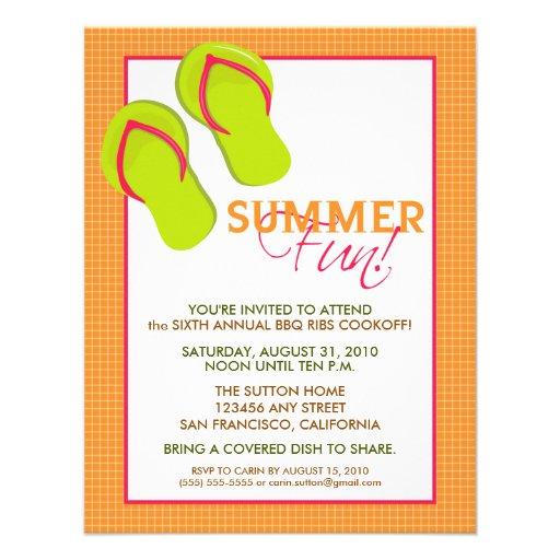 Convite do divertimento Picnic/BBQ do verão (alara