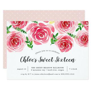 Convite do doce dezesseis do rosa de Provence