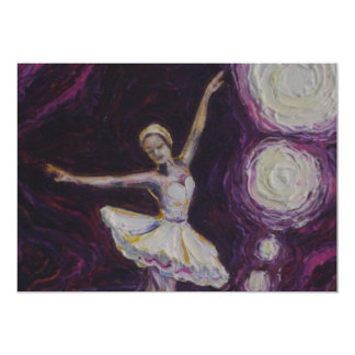 Convite do estudo da bailarina convite 12.7 x 17.78cm